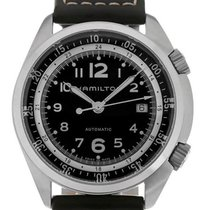 Hamilton Khaki Aviation Pilot Pioneer 41 Leather