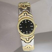 Bulgari Parentesi Damen Uhr original Diamant Stahl-/Gelbgold
