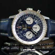브라이틀링 (Breitling) Navitimer D23322 Blue Dial 18K Gold Bezel...
