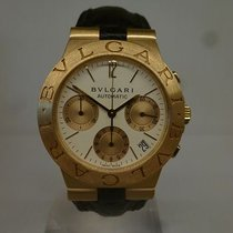 Bulgari modern DIAGONO CHRONOGRAPH gold with gold gasp ref ch35g