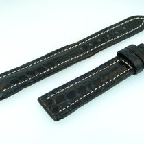 Breitling Band 16mm Croco  Black Negra Strap B16-31