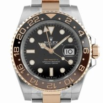 """Rolex GMT-Master II """"Root Beer"""" SS/Rose Gold Black Dial-126711..."""