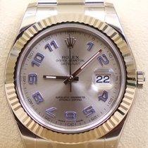 Rolex Datejust II, Ref.116334 - silber blau arabisches...