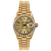 Rolex Ladies 18k Gold President - Champange Dial/Diamond Bezel