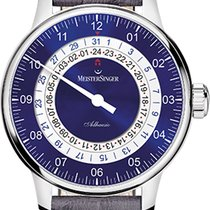Meistersinger Adhaesio AD908 Sunburst Blue Dial 43mm