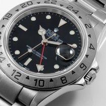 Rolex 40mm SS Explorer ll  Black Dial - 16570 NO Holes Case
