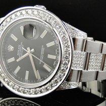 Rolex Custom Mens New 41 MM Black Rolex Date Just II 2 With...