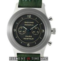 Panerai Mare Nostrum Steel 52mm Black Dial Special Edition...