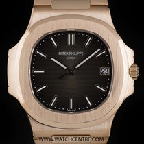 Patek Philippe 18k R/G Unworn Black-Brown Dial Nautilus...