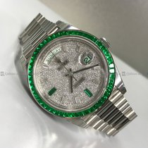 Rolex - DayDate 228396TEM Emeralds Bezel and Dial Platinum