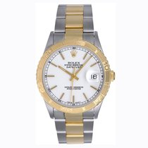 Rolex Turnograph 2-Tone Men's Steel & Gold White Dial...
