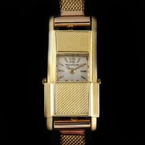 Jaeger-LeCoultre 18K Yellow Gold Silver Dial Duo Plan 1930's