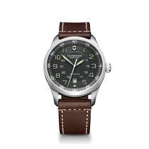 Victorinox Swiss Army Airboss grey dial, leather bracelet,...