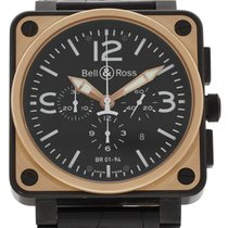 伯莱士 (Bell & Ross) Officer BR01-94 18K Rose Gold &...
