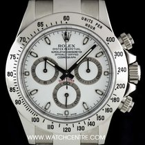 Rolex Stainless Steel O/P White Dial Cosmograph Daytona 116520