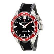 Hamilton Khaki Navy Frogman Automatic Black Dial Men's...