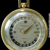 Patek Philippe Gubelin Worldtime Pocket Watch 18k Ref 605hu