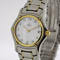 Ebel Classic Wave Steel & solid 18K Gold Watch MoP Diamond...