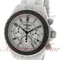 Chanel J12 41mm Chronograph Automatic, White Dial, Black...
