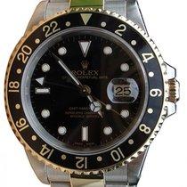 Rolex GMT-Master II 16713 Men's 40mm Black 18k Yellow Gold...