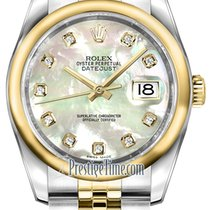 Rolex Datejust 36mm Stainless Steel and Yellow Gold 116203...