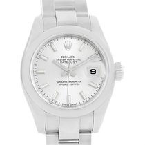 Rolex Datejust Silver Baton Dial Stainless Steel Ladies Watch...