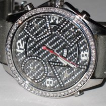 Jacob & Co. JC Five Time Zone 47MM Carbon Fiber Diamonds
