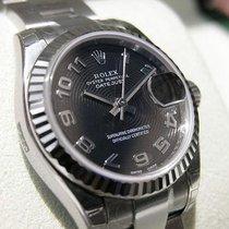 ロレックス (Rolex) Datejust 179174 Ss/18k Wg Black Concentric...