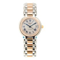 Longines Prima Luna 18k Rose Magic Diamond Silvery White...