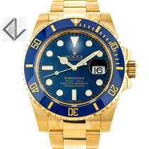 Rolex 18k Gold Blue Dial Submariner - 116618lb