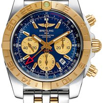 Breitling Chronomat GMT Automatic Chronograph Blue Dial Rose Gold