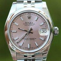 Rolex 31mm Mens Ladies Midsize Datejust Stainless Steel 178240...