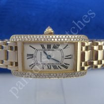 Cartier Tank Americaine in 750/18 K, original Cartier Diamanten.