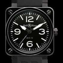 Bell & Ross BR01-92-CERAMIC 46mm Black Stain Black Dial...