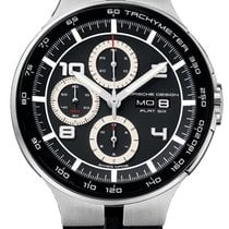 Porsche Design Flat Six Automatic Chrono Steel & PVD Mens...
