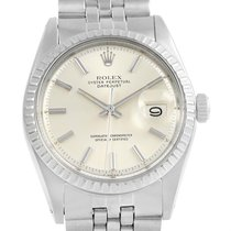 Rolex Datejust Silver Baton Dial Vintage Mens Watch 1603