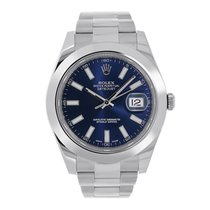 Rolex DATEJUST II Stainless Steel Blue Index Dial