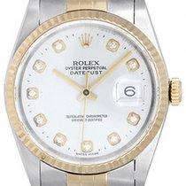 Rolex Datejust Men's 2-Tone Steel & Gold Watch Silver...