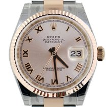 Rolex Datejust 31mm Steel & Everose Gold Pink Roman Dial