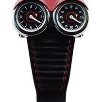 Azimuth Twin Turbo Mechan. Watch Racing Car Theme 2 Time Zones...