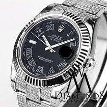 ロレックス (Rolex) 41mm Black Face Rolex Datejust 2 Ii With Custom...