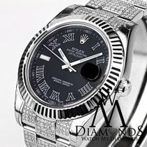 롤렉스 (Rolex) 41mm Black Face Rolex Datejust 2 Ii With Custom...