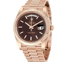 Rolex Day-Date 40mm Chocolate Dial 18K Everose Gold President