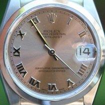 Rolex Steel Midsize 31mm Datejust Watch Pink Roman Box &...