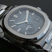 Patek Philippe : Nautilus Moon Phase Power Reserve Blue Dial...