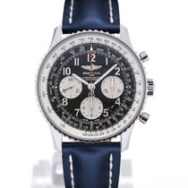 Breitling Navitimer 01 43 Arabic Numeral Dial Blue Leather...