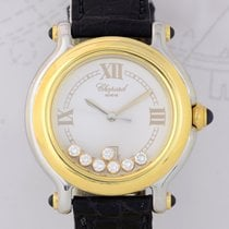 Chopard Happy Sport Diamonds Stahl / 18K Gold Luxus Watch 32mm...