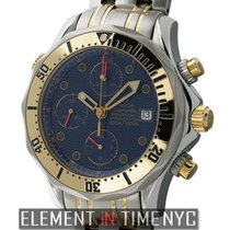 Omega Seamaster Chronograph Steel & Yellow Gold 42mm Blue...