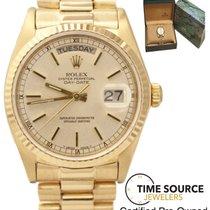Rolex President Day-Date 18K Gold Single Quickset 36mm 18038...