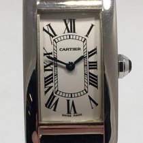 Cartier Tank Americaine Strapwatch 18k White Gold